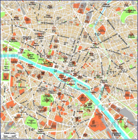 paris city map 16 Paris City Map