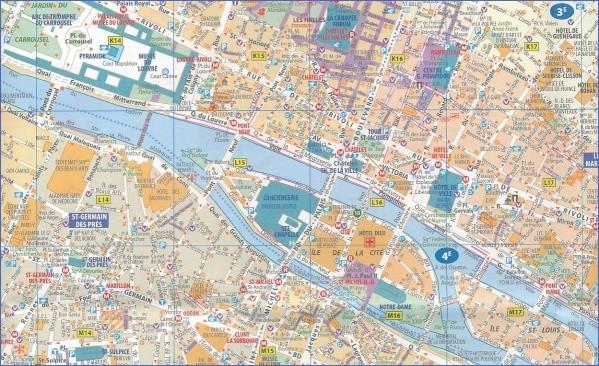 paris city map 17 Paris City Map