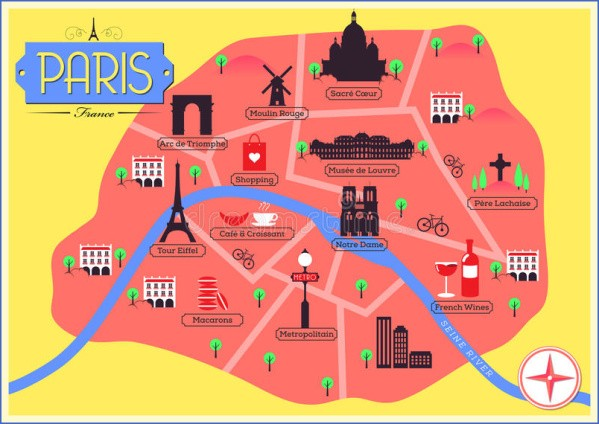 paris map landmarks paris landmarks map 12 Paris Map Landmarks Paris Landmarks Map