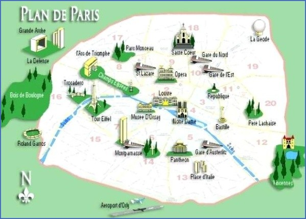 paris map landmarks paris landmarks map 14 Paris Map Landmarks Paris Landmarks Map