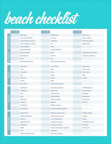 the ultimate travel packing checklist 3 The Ultimate Travel Packing Checklist