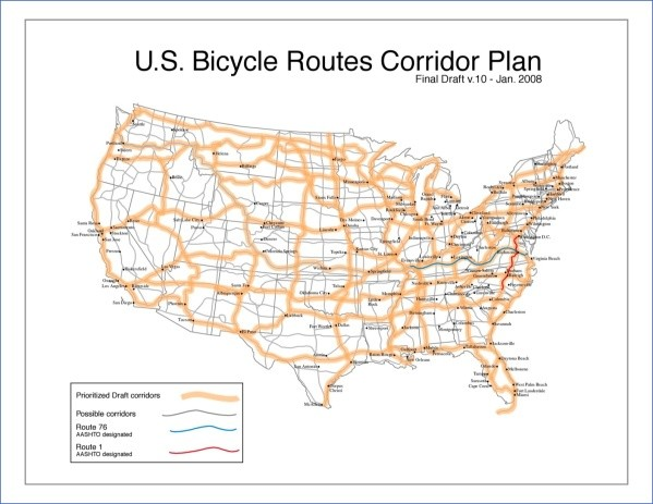 u s bicycle route system 11 U.S. Bicycle Route System