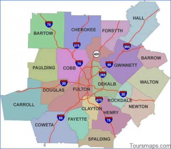 atlanta area map 16 Atlanta Area Map