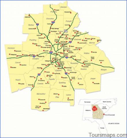 atlanta area map 17 Atlanta Area Map