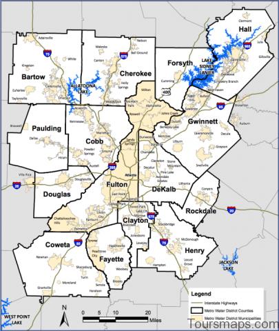 atlanta area map 6 Atlanta Area Map