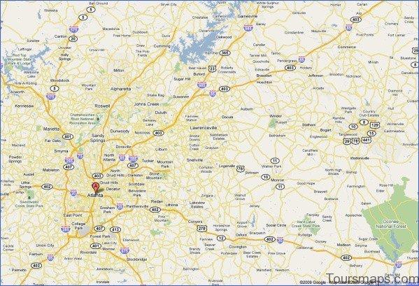 atlanta area map 9 Atlanta Area Map