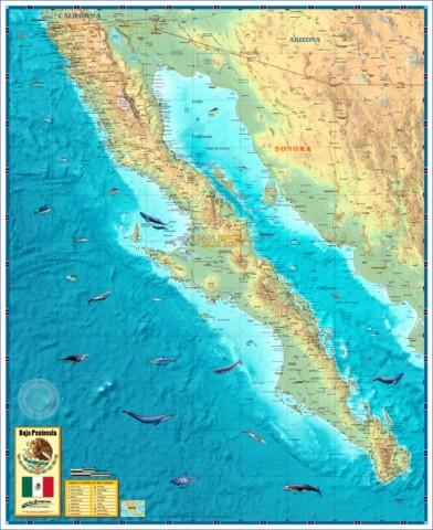 baja california map 1 Baja California Map