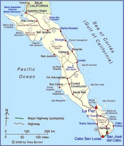 baja california map 10 Baja California Map