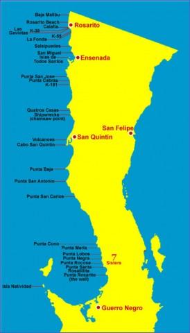 baja california map 12 Baja California Map