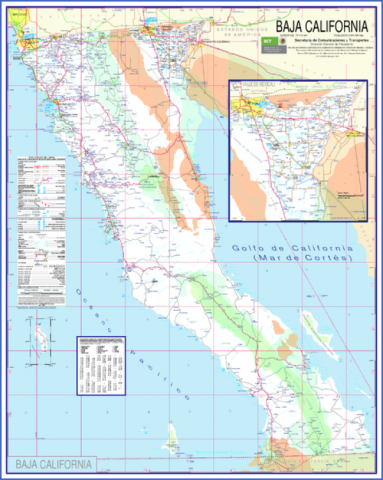 baja california map 18 Baja California Map