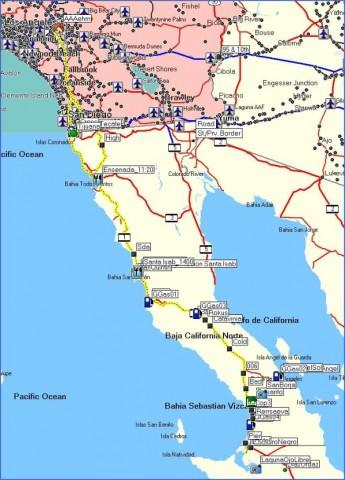 baja california map 2 Baja California Map