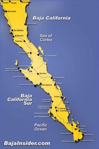 baja california map 4 Baja California Map