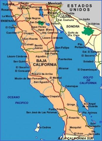 baja california map 5 Baja California Map