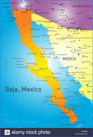 baja california map 8 Baja California Map