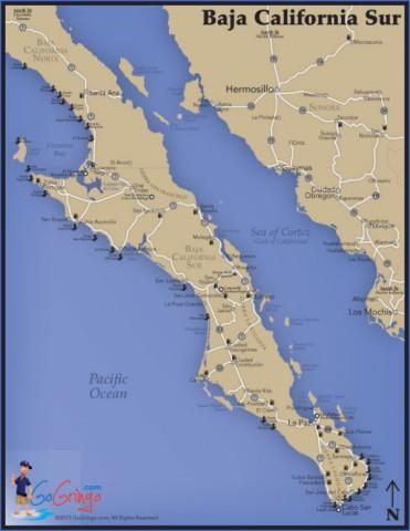 baja california map 9 Baja California Map