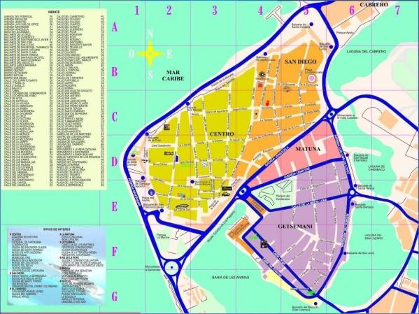 cartagena map 5 Cartagena Map