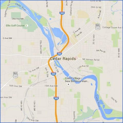 cedar rapids map and guide 0 Cedar Rapids Map and Guide