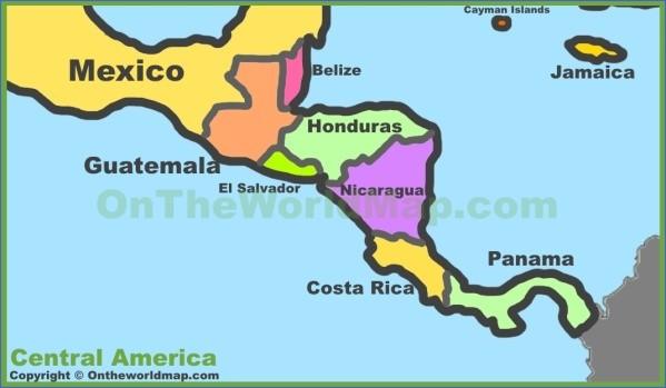 central america map 1 Central America Map