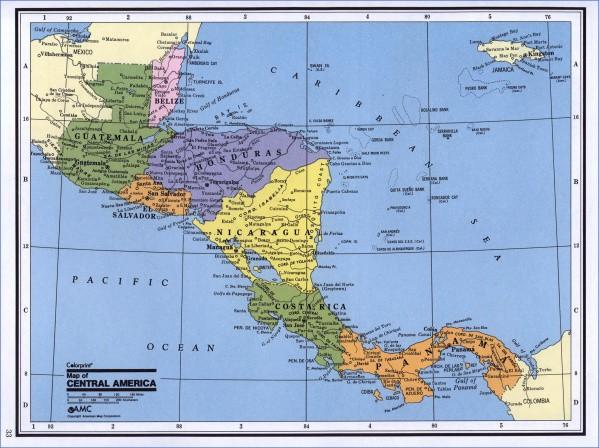 central america map 15 Central America Map
