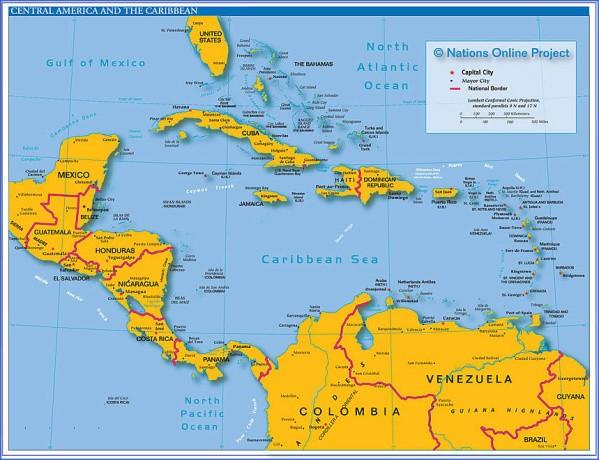 central america map 6 Central America Map