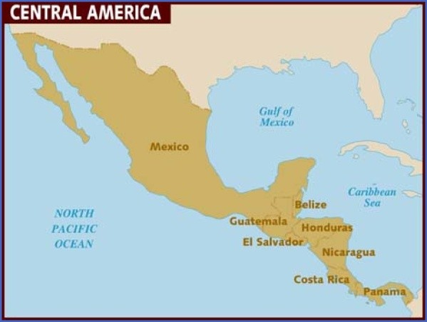 central america map 7 Central America Map