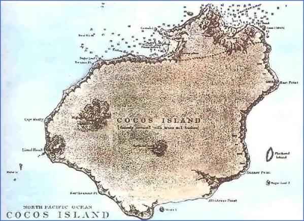 cocos island map 12 Cocos Island Map