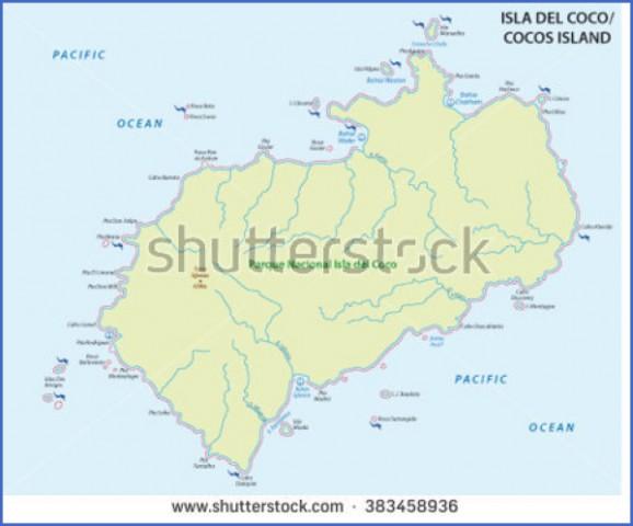 cocos island map 13 Cocos Island Map