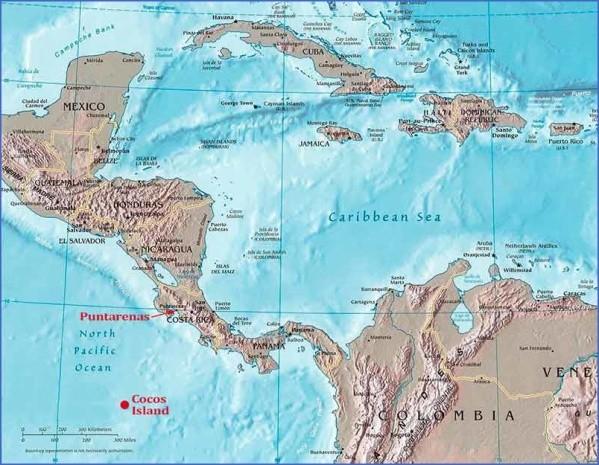 cocos island map 3 Cocos Island Map