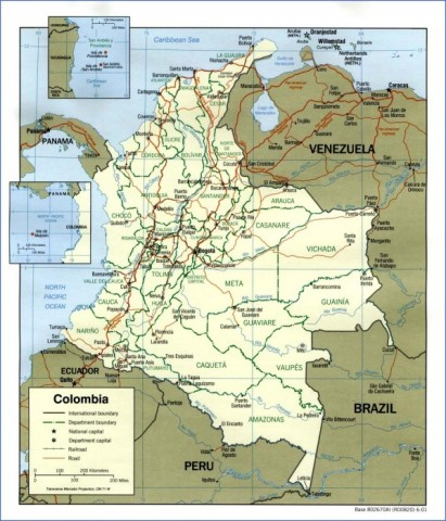 colombia map 4 Colombia Map