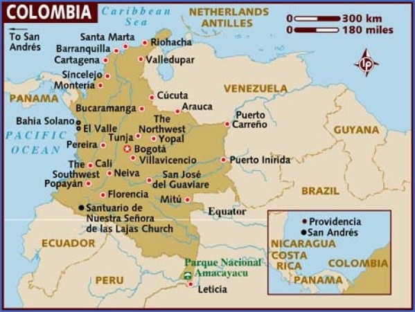 colombia map 6 Colombia Map