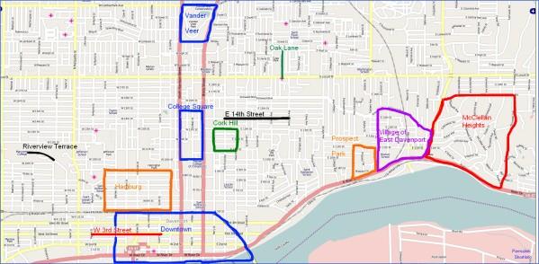 davenport map and guide 10 Davenport Map and Guide