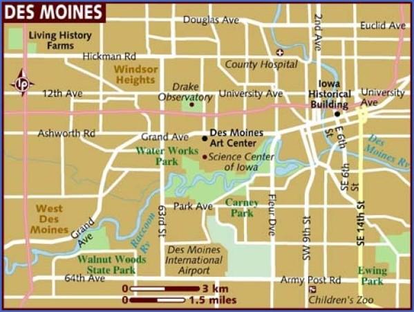 des moines map 0 Des Moines Map