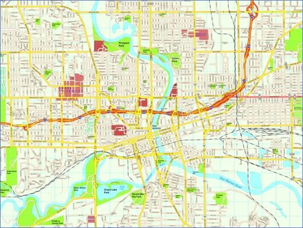 des moines map 16 Des Moines Map