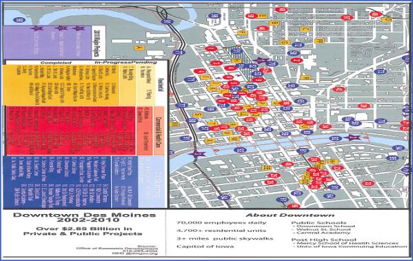des moines map 19 Des Moines Map