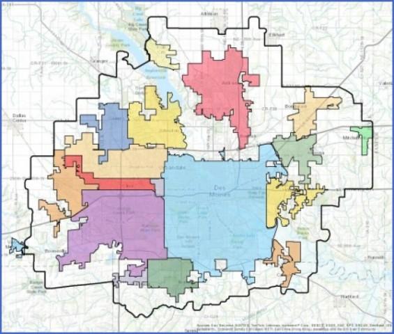 des moines map 3 Des Moines Map