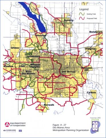 des moines map 4 Des Moines Map