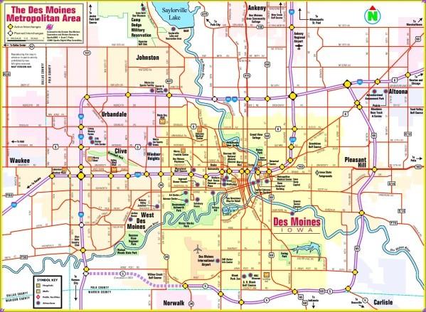 des moines map 9 Des Moines Map