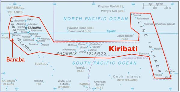 kiribati map 5 Kiribati Map