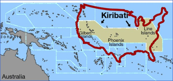 kiribati map 7 Kiribati Map