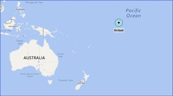 kiribati map 8 Kiribati Map