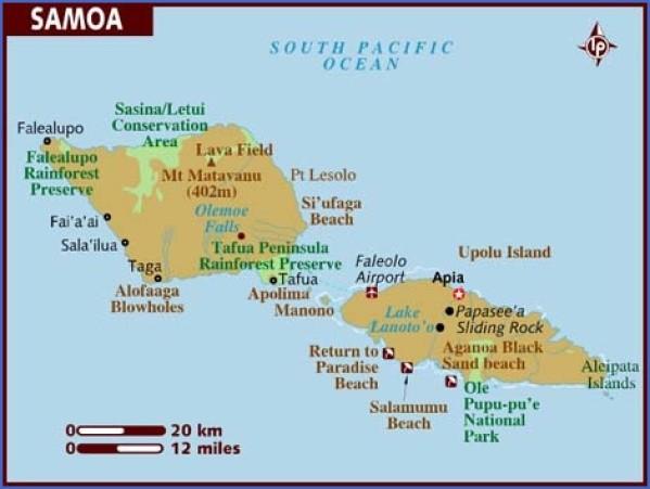 samoa map 1 Samoa Map