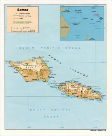samoa map 10 Samoa Map