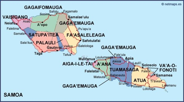 samoa map 11 Samoa Map