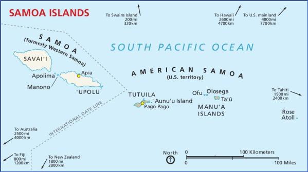 samoa map 12 Samoa Map