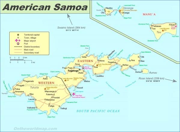 samoa map 9 Samoa Map