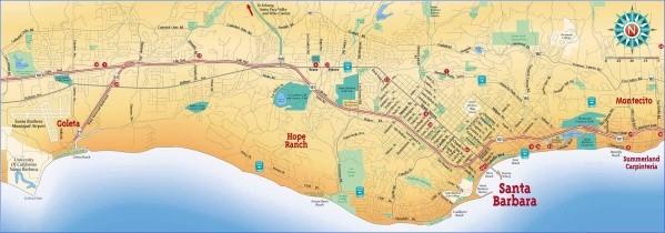 santa barbara map 1 Santa Barbara Map