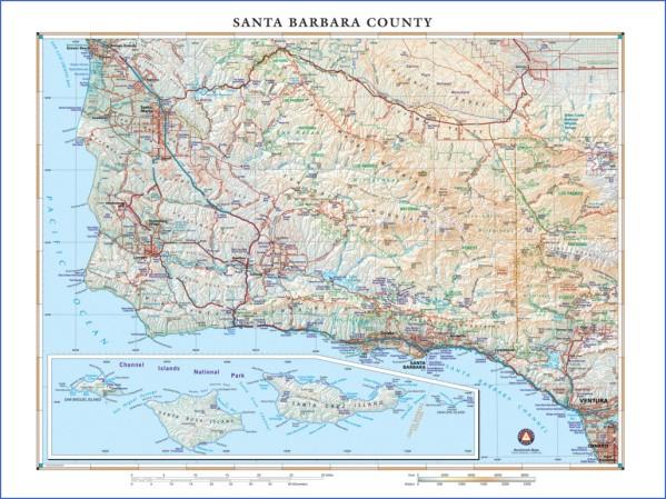 santa barbara map 10 1 Santa Barbara Map