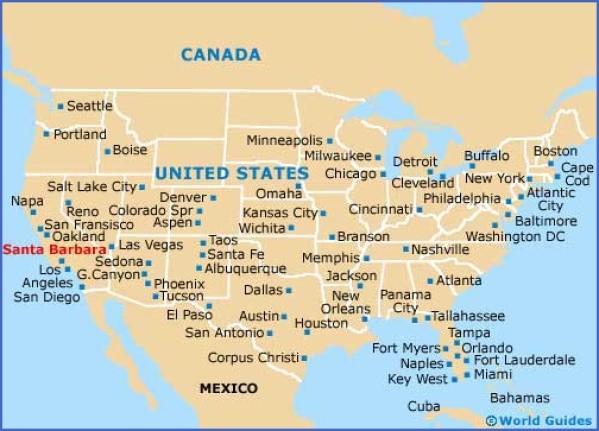 santa barbara map 10 Santa Barbara Map
