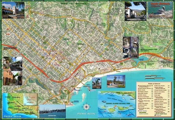 santa barbara map 11 1 Santa Barbara Map