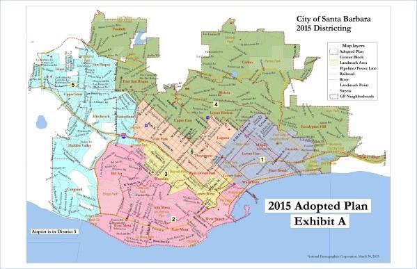 santa barbara map 12 Santa Barbara Map